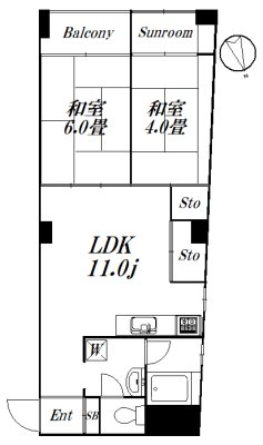 ダイトウマンション 601号室 間取り