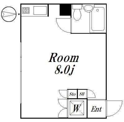ポイントU1 101号室 間取り