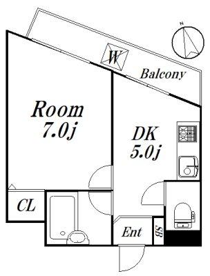 リバーストーン 306号室 間取り