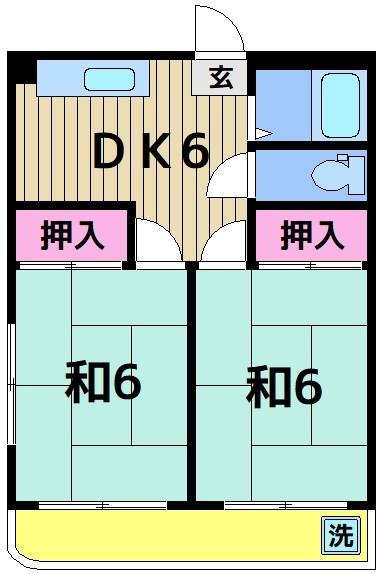 メゾン森Ⅱ 302号室 間取り
