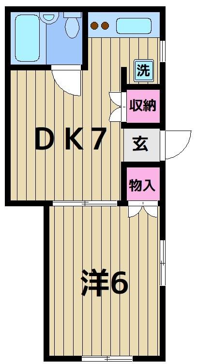 乙顔コーポ 201号室 間取り