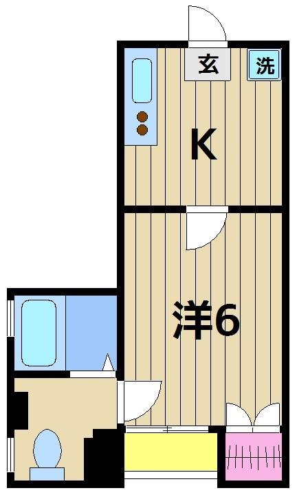 日吉第一ビル 201号室 間取り