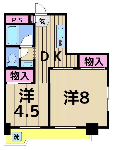 ファインクロス四番館 301号室 間取り