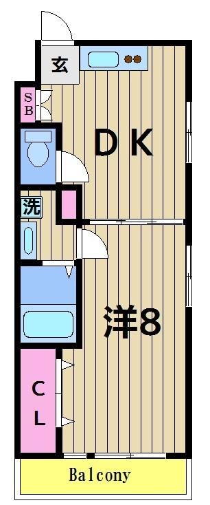 サンライズハイツ 104号室 間取り
