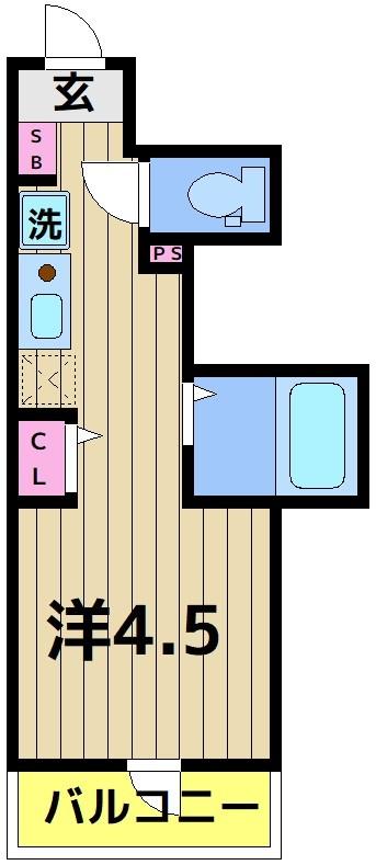 アイプログレイス西新井栄町 102号室 間取り