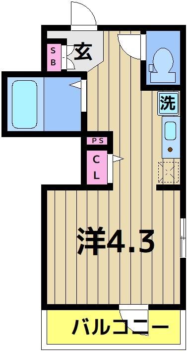 アイプログレイス西新井栄町 201号室 間取り