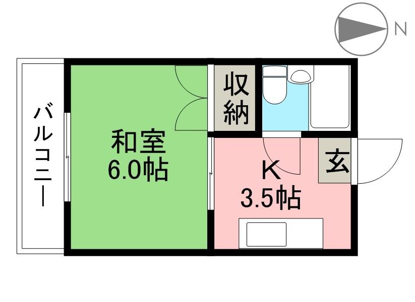 桜井コーポ 301号室 間取り