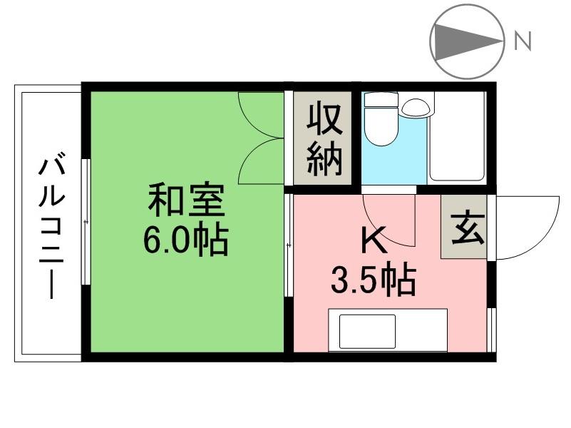 桜井コーポ 302号室 間取り