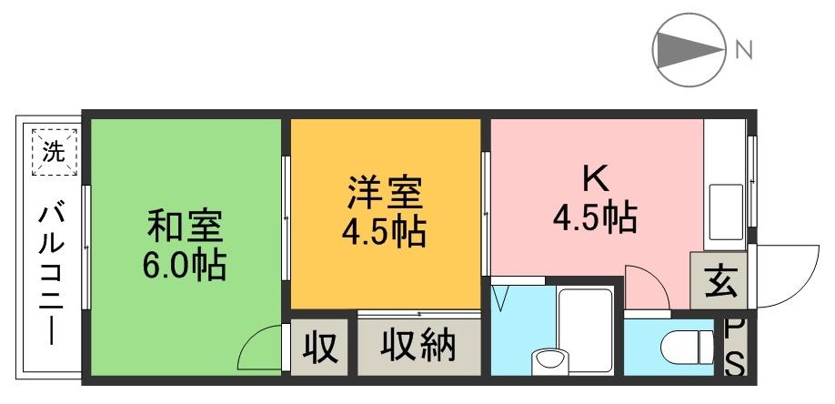 コーポフジ(介良乙) 405号室 間取り