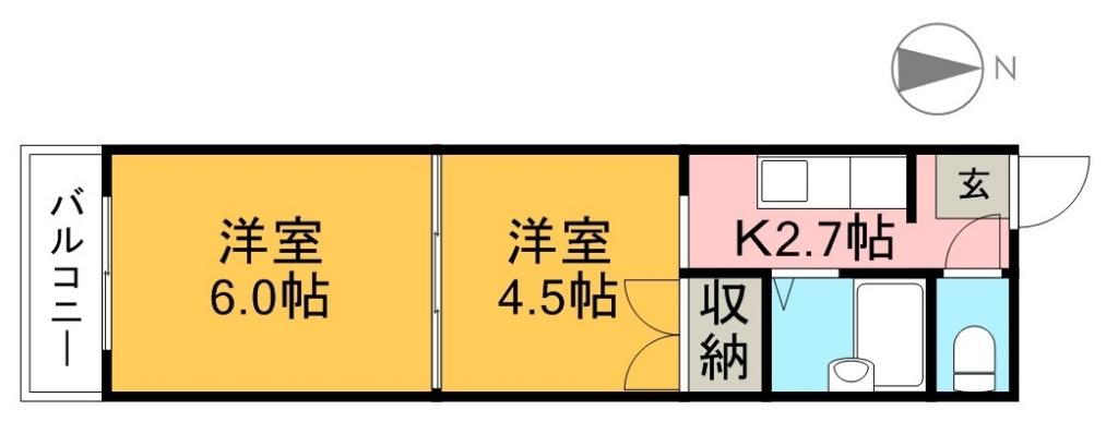 藤本マンション 203号室 間取り