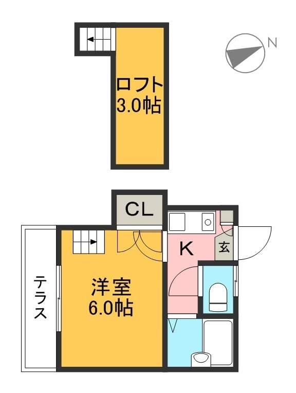 シンフォニィ中須賀 104号室 間取り