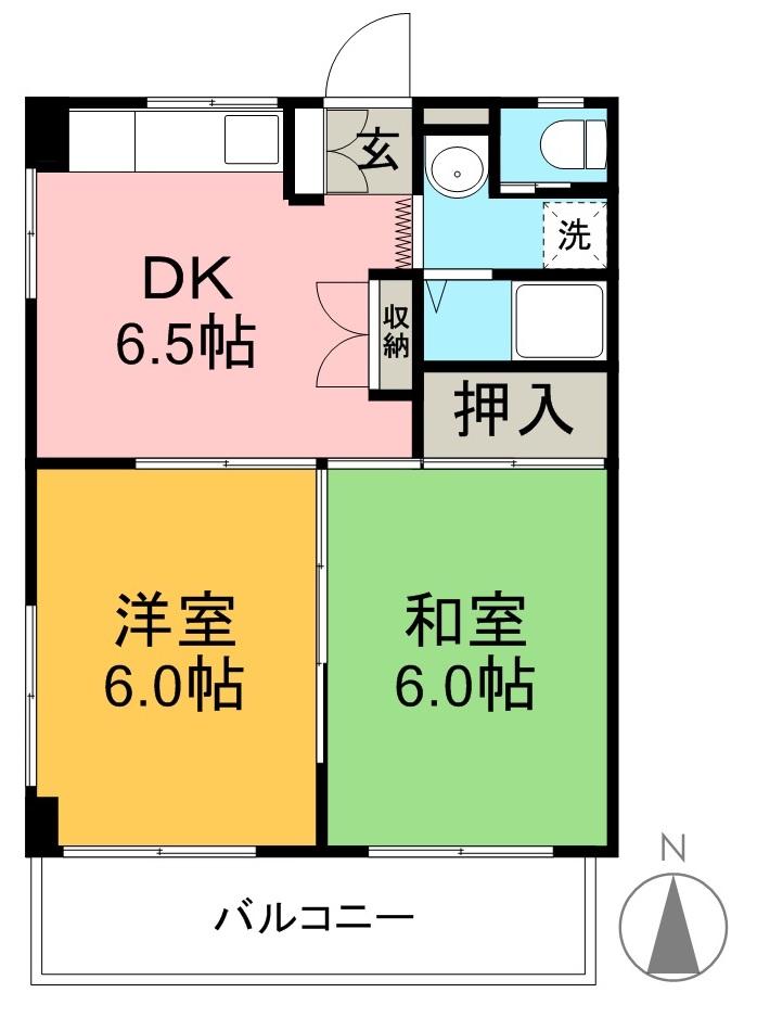 コーポ浜田 403号室 間取り