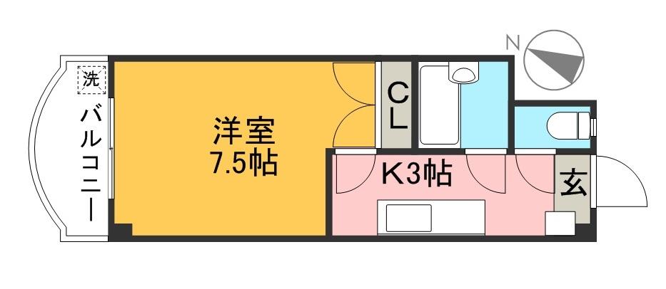 ピュアコート高須 205号室 間取り