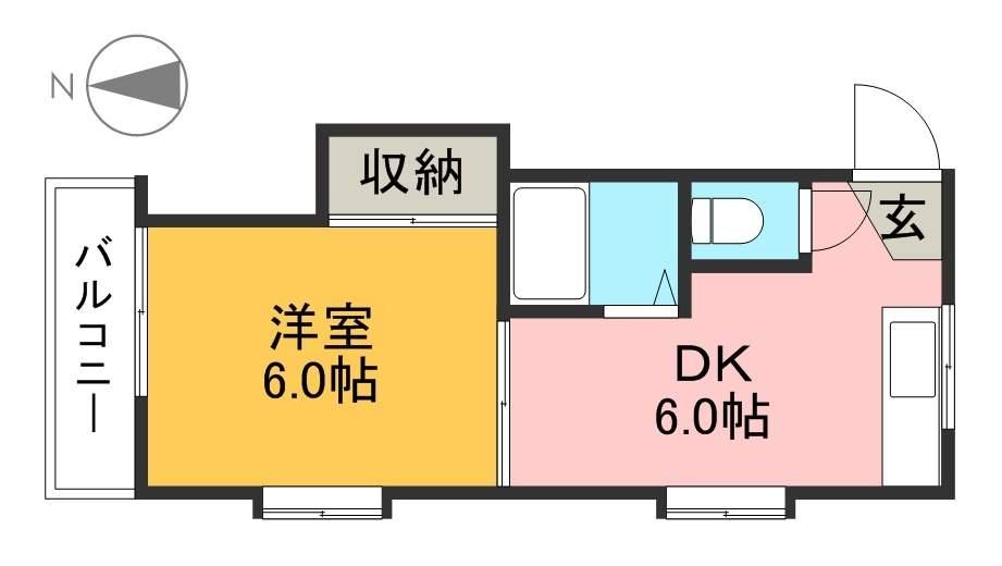 コーポYOKOYAMA 205号室 間取り
