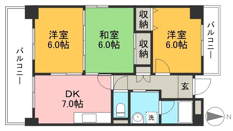 山崎ハイツ 305号室 間取り