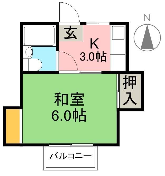 ハッピー旭3号館 202号室 間取り