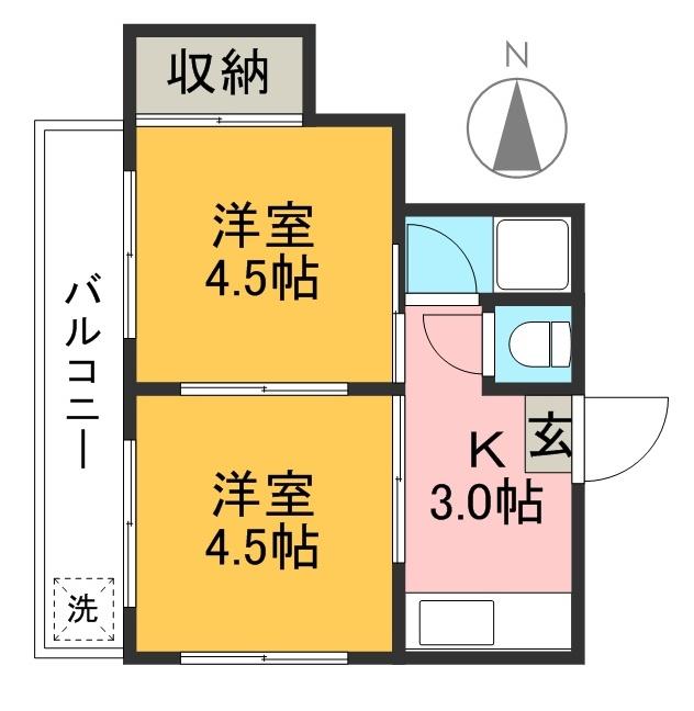 平成ハイツ 102号室 間取り