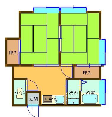 秋山荘 202号室 間取り