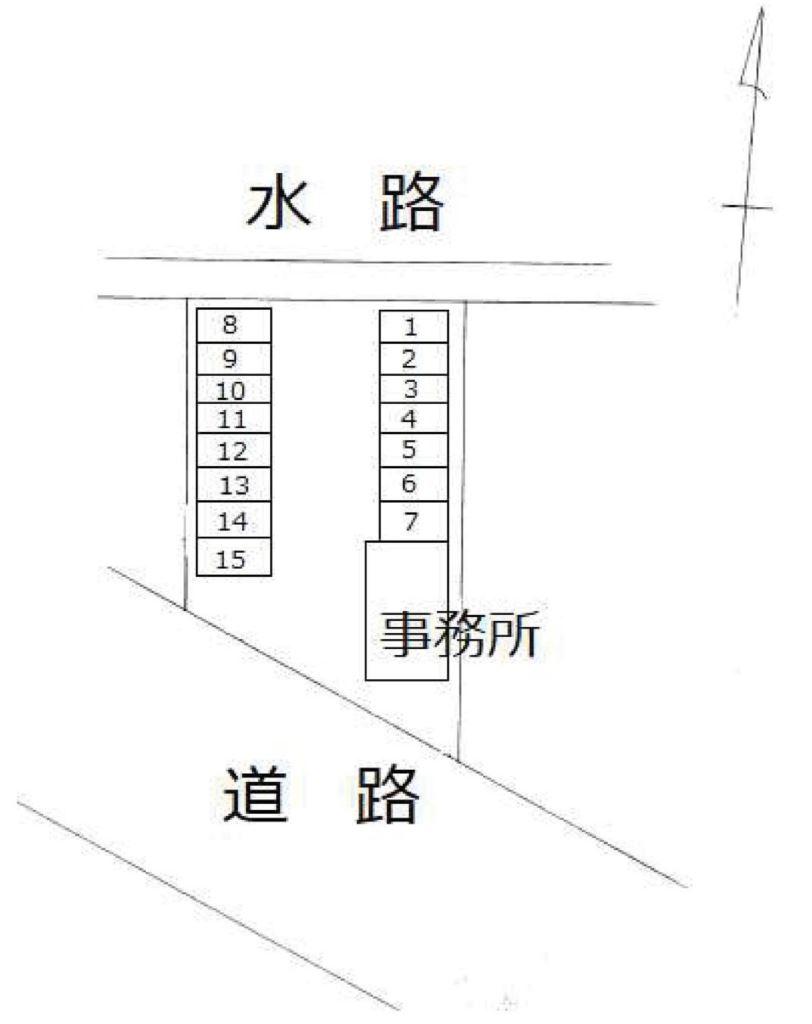 長岡タクシー宮内パーキング P08号室 間取り