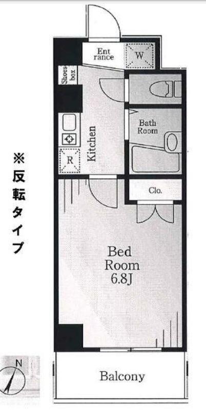 メゾンナツウメ 404号室 間取り