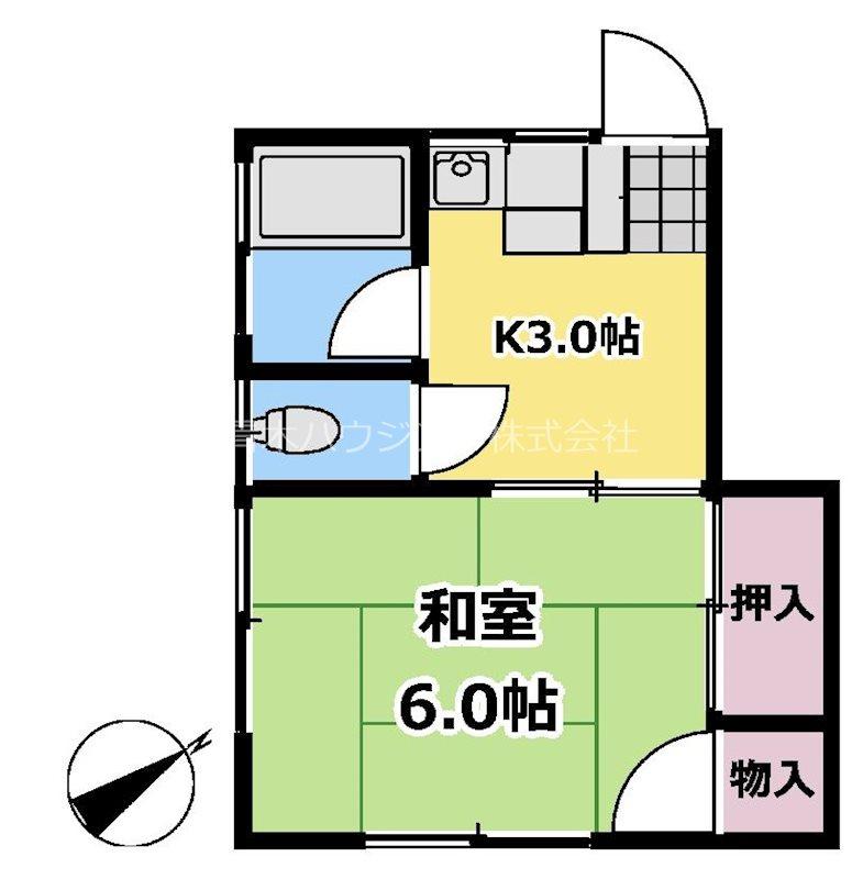 富士見荘 203号室 間取り