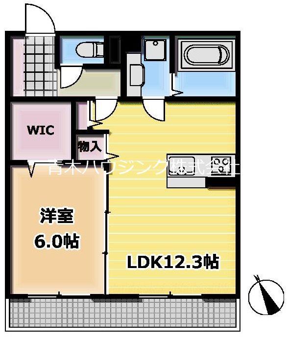 片倉町新築アパート 205号室 間取り
