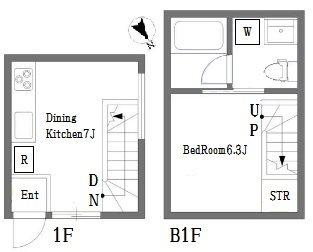 品川区小山6丁目楽器可(電子ピアノ・弦楽器・木管楽器)デザイナーズアパート 間取り