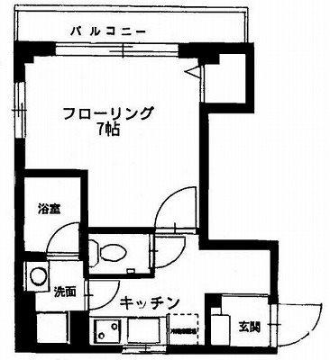 横浜市中区新山下1丁目楽器可(防音・グランドピアノ・弦楽器・声楽)アパート 間取り