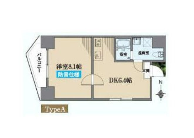 新宿区大京町楽器可(防音・24時間・ピアノ・弦管楽器・声楽・DTM)マンション 901号室 間取り
