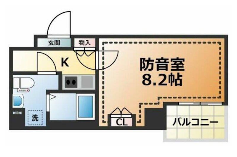 新宿区大京町楽器可(防音・24時間・ピアノ・弦管楽器・声楽・DTM)マンション 302号室 間取り