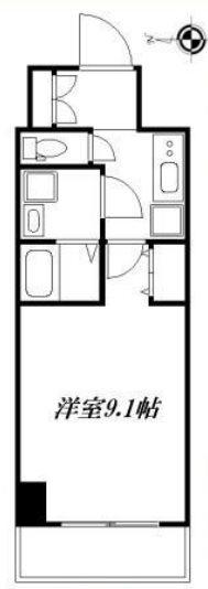 豊島区西池袋4丁目楽器可(防音・グランドピアノ・弦管楽器・声楽)マンション (コピー) 304号室 間取り