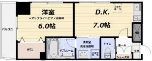 川崎市多摩区登戸新町楽器可(ピアノ・弦管楽器・声楽・DTM)マンション 603号室 間取り
