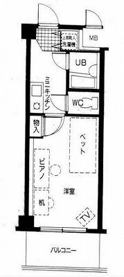 ふじみ野市駒西3丁目楽器可(防音・グランドピアノ・弦・木管楽器)マンション 207号室 間取り