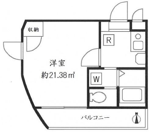 台東区上野桜木1丁目楽器可(防音・ピアノ・弦楽器・声楽)マンション 303号室 間取り