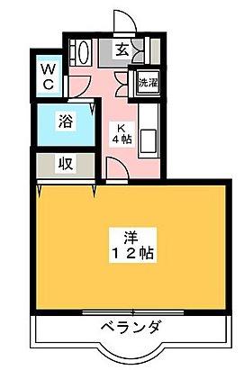 川崎市高津区坂戸2丁目楽器可(グランドピアノ・弦・管楽器・声楽)マンション 206号室 間取り