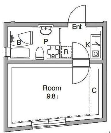 練馬区桜台4丁目楽器可(防音・24時間演奏・グランドピアノ・弦・管楽器・打楽器・声楽DTM)マンション 102号室 間取り