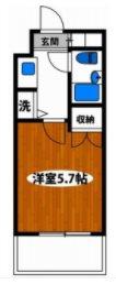 川崎市宮前区土橋2丁目楽器可(ピアノ・弦・管楽器)マンション 101号室 間取り
