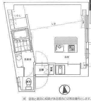 世田谷区若林2丁目楽器可(防音・ピアノ・弦楽器・声楽)マンション 402号室 間取り