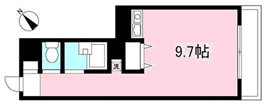 川崎市多摩区枡形2丁目楽器可(防音・グランドピアノ・弦・管・打楽器・声楽)マンション 601号室 間取り