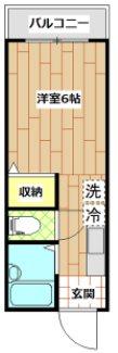 川崎市高津区二子4丁目楽器可(ピアノ・弦・管楽器・DTM)マンション H-3号室 間取り