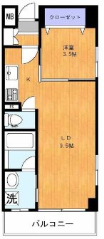 豊島区池袋2丁目楽器可(防音・グランドピアノ・弦・管楽器・声楽)マンション 401号室 間取り