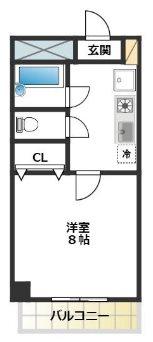 大田区北千束2丁目楽器可(ピアノ・弦楽器)マンション 303号室 間取り