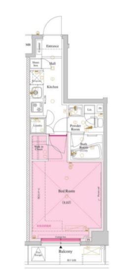 中野区大和町4丁目楽器可(防音・ピアノ・管・弦楽器・声楽)マンション 703号室 間取り