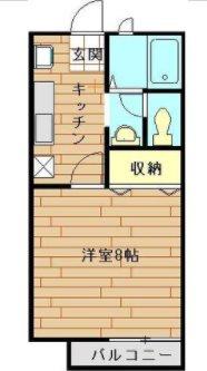 入間市仏子楽器可(防音・ピアノ・木・弦管楽器)アパート 103号室 間取り