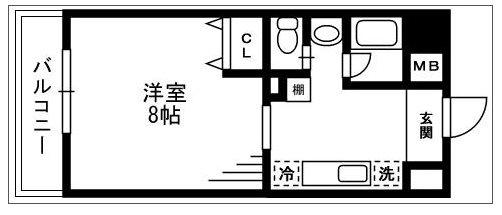 川崎市高津区溝口3丁目楽器可(ピアノ・弦管楽器・声楽)マンション 805号室 間取り