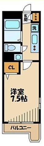 川崎市中原区下小田中3丁目楽器可(ピアノ・弦楽器・その他楽器相談)マンション 305号室 間取り