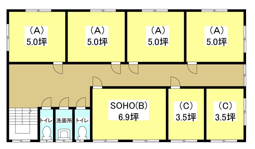 ぷち蔵ビル葵西四丁目 205-A号室 間取り