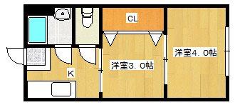 グロー東加賀屋 301号室 間取り
