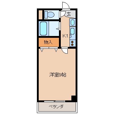 桜マンションⅡ 間取り図