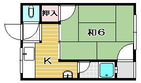 山辺マンション 402号室 間取り